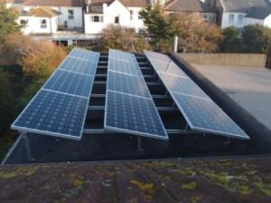 Flat roof Solar pv